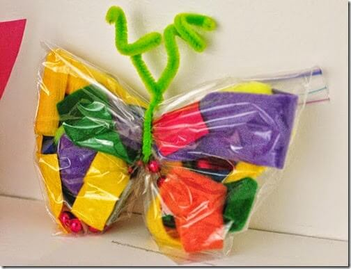 very hungry caterpillar butterfly craft