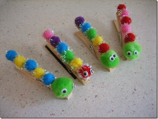 very hungry caterpillar clothespins