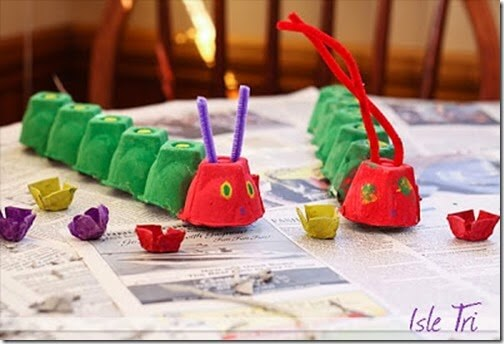 very hungry caterpillar egg cartoon craft for kids