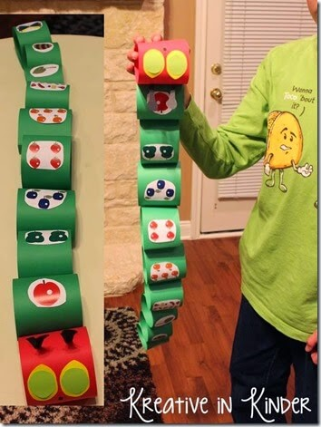 very hungry caterpillar paper craft
