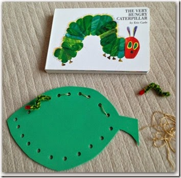 very hungry caterpillar threading activity