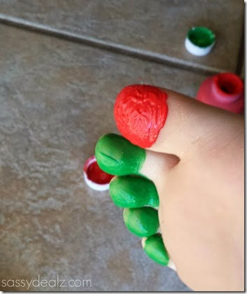very hungry caterpillar toe stamping craft for kids