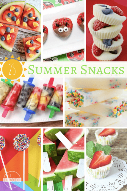 25 Summer Snacks Kids will LOVE - so many yummy summer recipes kids will love.