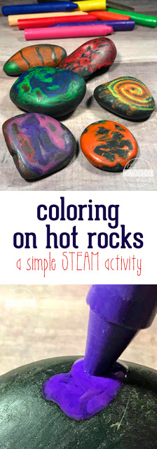 Summer STEAM Activity - kids will love this fun rock crafts for kids where kids will color on hot rocks. Such a fun STEAM activity.