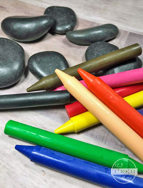 crayons and rocks activities