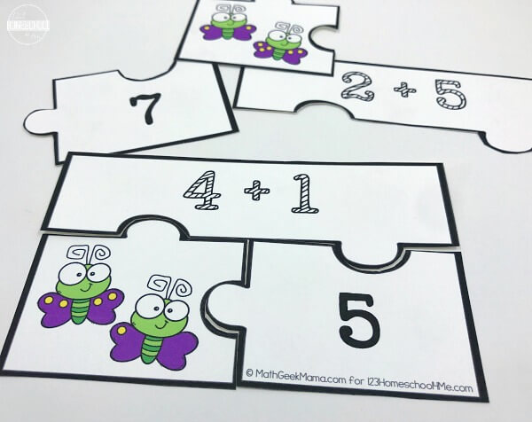 Spring Counting and Addition Puzzles