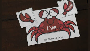super cute crab puzzles to help 2nd graders practice making contractions