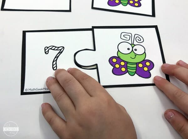 super cute bug themed counting puzzles for preschool and kindergarten age kids