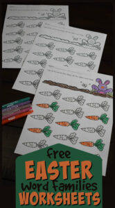 Easter word family worksheets