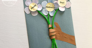 Happy Mothers Day Flowers and Handprint Craft