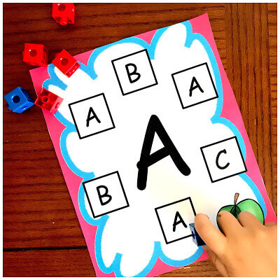 FREE Printable Preschool Letter Recognition Activity