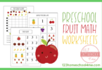 Preschool Fruit Math Skills