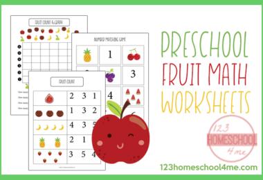 Preschool Fruit Math Skills