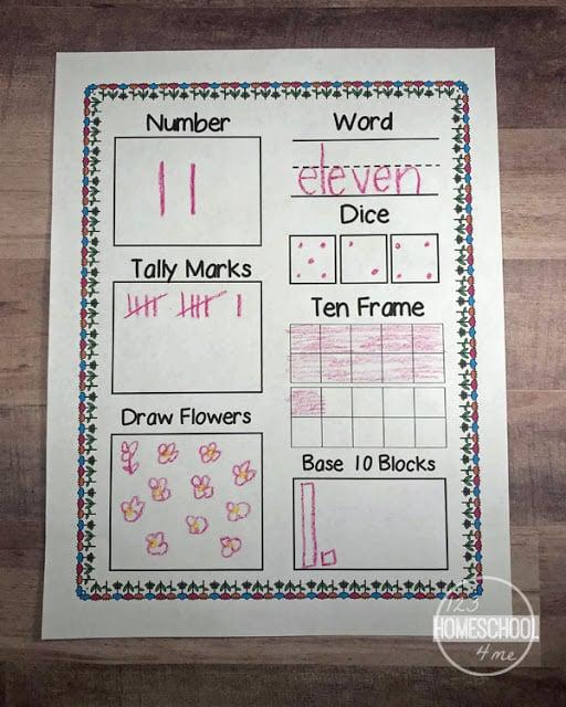 FREE Spring Teen Number Sense Worksheets For Kindergarten