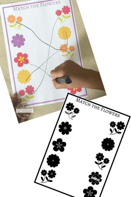 flower preschool worksheets