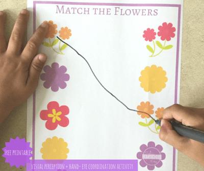 flower spring matching activity
