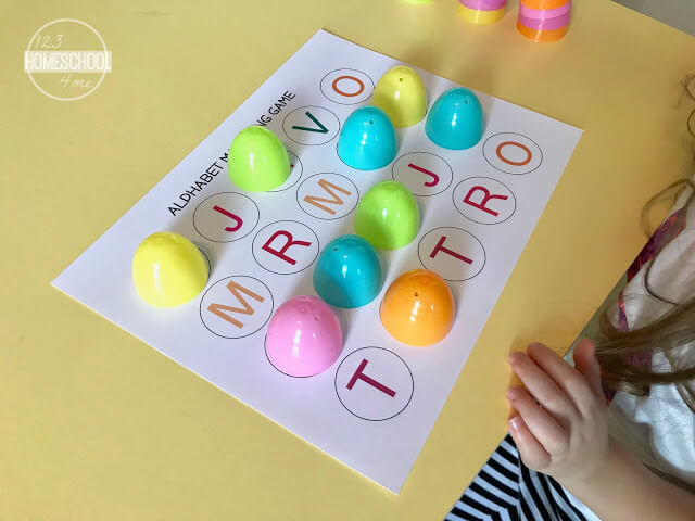 Easter Alphabet Matching Game