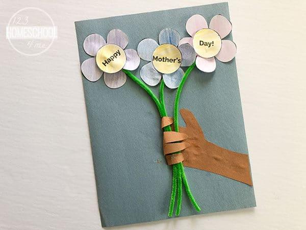 super cute handprint mothers day craft