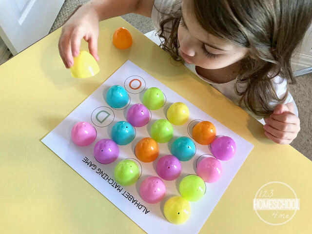 easter eggs game for toddler, preschool, kindergarten