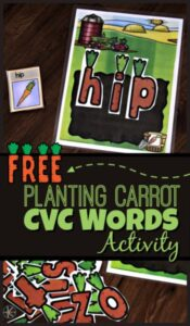 Planting Carrots CVC Activity for Kindergarten