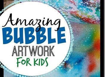 Fun to make and amazing bubble artwork for kids