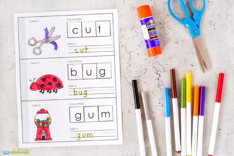 CVC Activities for Kindergarten