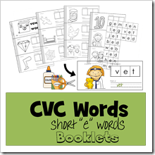 CVC Words short 3 TPT