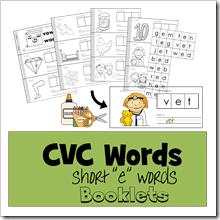 CVC Words short 3 TPT