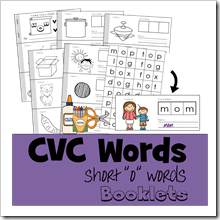 CVC Words short o TPT