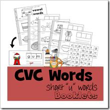 CVC Words short u TPT