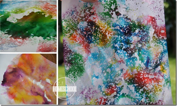 Super fun kids activity for summer that produces beautiful bubble art