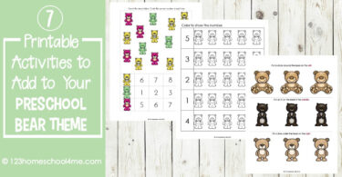 B is for Bear Worksheets