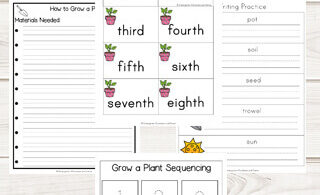 Grow a Plant Sequencing Worksheets