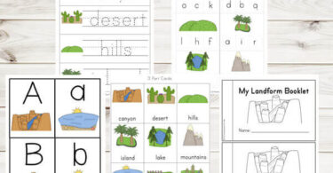 Landforms Printable Pack