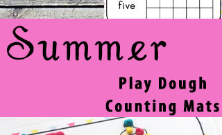 Summer Playdough Counting Mats