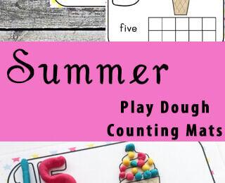 Summer Playdough Counting Mats