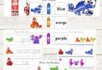 Chameleon Color Worksheets