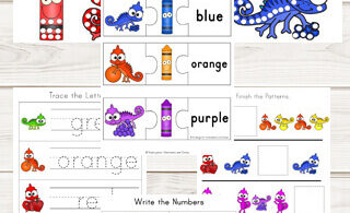 Chameleon Color Worksheets