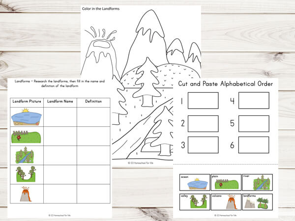 landforms-science-projects-worksheets