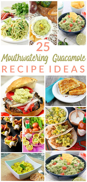 25 Mouthwatering Guacamole Recipes - your famil is going to love all these easy, delicious, and healthy summer recipes featuring avocados. #recipes #summerrecipes #guacamole