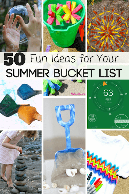 50 FUN Summer Bucket List Ideas- tons of clever, unique kids activities, family vacations, family activities, kids learning activities, and more to have the best summer activities ever! #kidsactivities #summeractivities #summerbucketlist