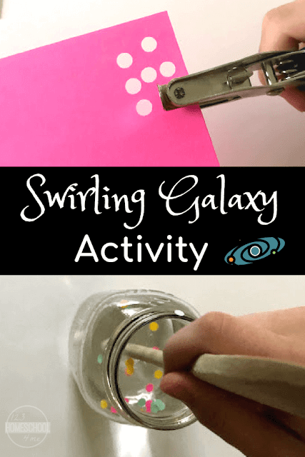 Swirling Galaxy Science Project for Kids - this is such a fun, hands on science activity to help kids to learn about the solar system. Preschool, Kindergarten, first grade, 2nd grade, and 3rd grade kids will all love this project!