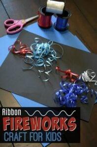 Ribbon Fireworks Craft