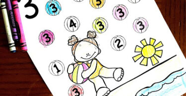 Summer Number-Recognition-Coloring-Pages
