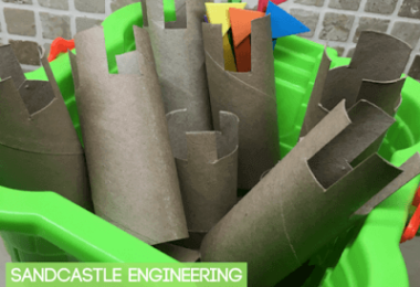 Sandcastle Engineering using cardboard rolls