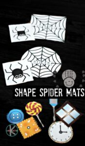 Spider shapes activity for toddlers, preschoolers, and kindergartners