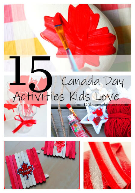 15 fun, creative, and unique Canada Day Activities for Families to celebrate on July 1 holiday #canadaday #canada #kidsactivities