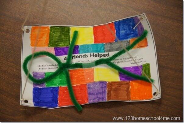 4 Friends Help get friend to Jesus sunday school craft for kids