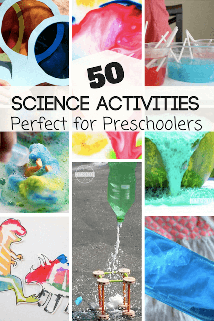 50 Preschool Science Experiments - so many fun, creative, unique, and easy to try science projects for preschoolers.
