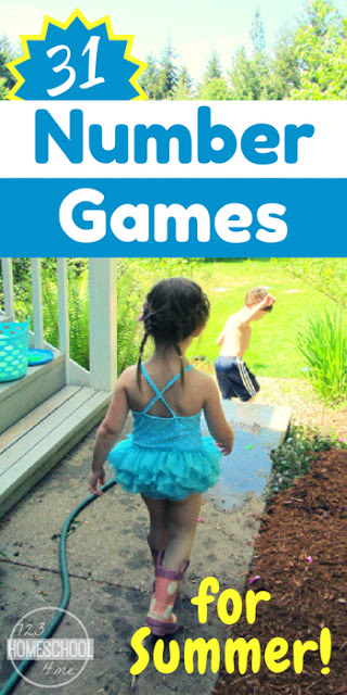 31 Number Games for Kids - lots of clever kids activities perfect for summer learning and your summer bucket to practice counting, adding on, addition, and more for toddler, preschool, kindergarten, first grade, and 2nd grade kids.